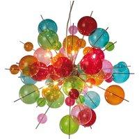 Lámpara colgante Aurinia multicolor Ø 65 cm