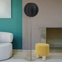 Dark Flechtwerk designer floor lamp  spherical