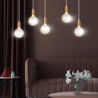 Spark 5 hanging light five bulb  white copper