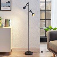 Vloerlamp Nordwin, 2 lampje, zwart-goud