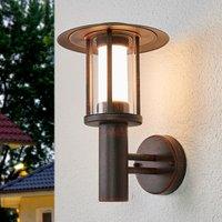 Rostfarbene LED-Außenwandlampe Pavlos