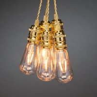 LED party string lights indoors  eight bulb