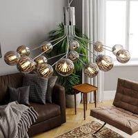 By Ryd ns Galax hanging light chrome grey 15 bulb
