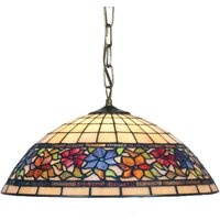 Tiffany style hanging lamp Flora  1 x E27