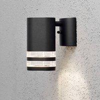 Modena outdoor wall light  1 bulb  2 slits black
