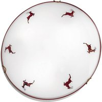Nonna stag ceiling light  white and red  1 bulb