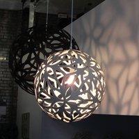 david trubridge Floral hanging lamp   40 cm black