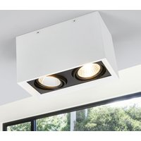 Two bulb LED ceiling lamp Loreen in white