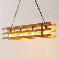Lindby Jamina wooden hanging light  four bulb