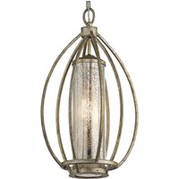 Rosalie hanging lamp with a gold finish