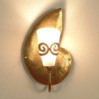 Beautiful wall lamp RIFUGIO SCHNECKE gold left