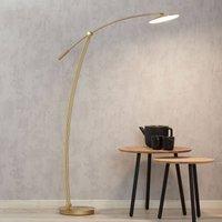 B Leuchten Ohio LED floor lamp matt polished brass