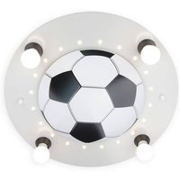 Football ceiling light  4 bulb  silver and white