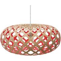 david trubridge Kina hanging lamp  60cm bamboo red