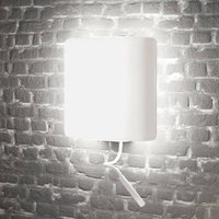 Square LED wall light with reading light  white