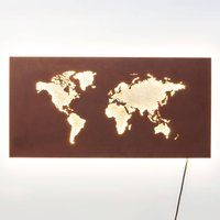 KARE Map LED wall light with cable and plug