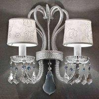 Classic two bulb wall light Gal   silver