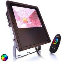 Sterke LED-buitenspot Flood Color RF II 60 RGB