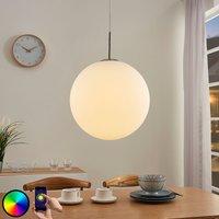 Lindby Smart LED-RGB-Pendelleuchte Rhona, App