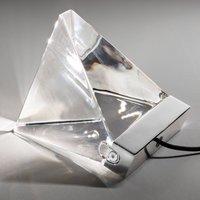Small Tripla crystal table lamp w  LED  aluminium