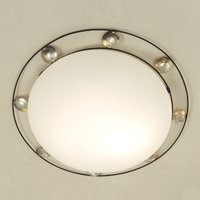 Beautiful ceiling lamp FRATERNA brown gold silver