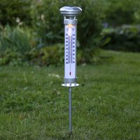Celsius LED solar light  outdoor thermometer