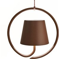 Poldina LED hanging light  battery powered  brown