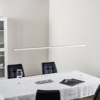 Orix LED hanging light  white  150 cm long