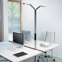 Luctra Floor Twin Linear LED floor lamp aluminium