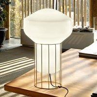 A rostat designer table lamp with brass base 33 cm