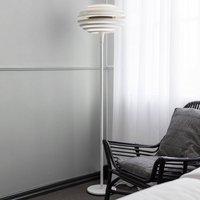 Ellipse floor lamp with dimmer  white chrome