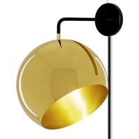 Nyta Tilt Globe Wall Brass wall lamp with plug