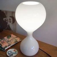next Blubb   glass table lamp  opal black cable