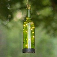 LED-Solarleuchte Bottle, grün