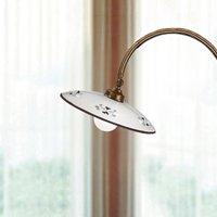 Bassano traditional floor lamp brown