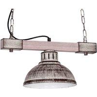 Hakon hanging light 1 bulb iron light wood