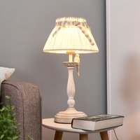 Bird   table lamp with handcrafted metal bird