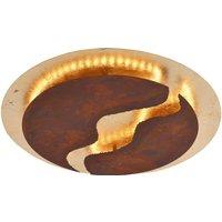 LED-Deckenleuchte Nevis, rund, Ø 50 cm, braun-gold