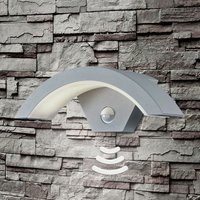 Ohio LED outdoor wall light  sensor  titanium col