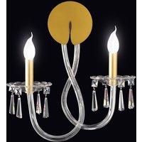 Intrecci wall light with Murano glass  2 bulb