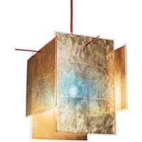 Golden designer hanging light 24 Karat Blau 450 cm