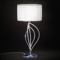 Girasole table lamp with fabric lampshade