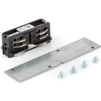 Eutrac longitudinal connector recessed track black