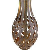 36652 LED solar decoration lantern  bamboo look