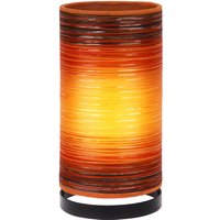 Julie table lamp wrapped in threads  orange