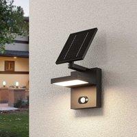 Solar-LED-Außenwandlampe Silvan mit Sensor
