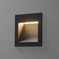 BEGA 24203 LED recessed wall light 3,000K graphite