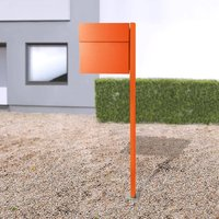 Letterman IV free standing letterbox orange