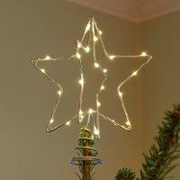 Christmas Top LED decorative light  silver