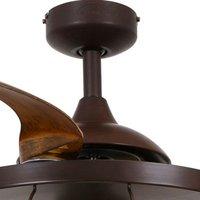 Fanaway Industri ceiling fan  light  brown